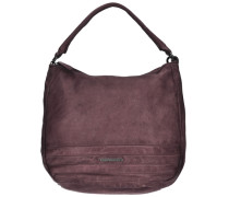 Cut it Vintage Megapixel Shopper Tasche Leder 35 cm braun