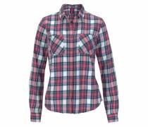 Karobluse 'lumberjack Twill Shirt' rauchblau / rotviolett