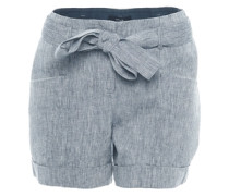 Shorts 'Layla linen' blau