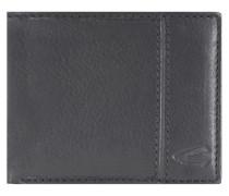 Rio Geldbörse Leder 10 cm schwarz