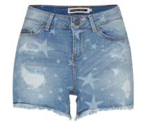 Denim Shorts 'star' blau