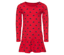 Set '2 in1 dress with leggings' navy / rot