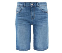 Smart Short: Stretch-Jeans blue denim