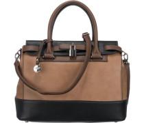 Handtasche beige / schwarz
