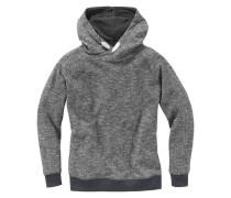 Kapuzensweatshirt Grob meliert für Jungen graumeliert