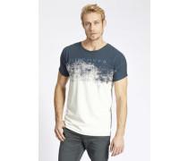 Shirt 'tildan' dunkelblau / weiß