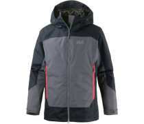 North Slope Funktionsjacke grau / schwarz