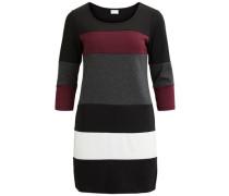 3/4-ärmeliges Kleid 'vitinny Super Blocked' dunkelgrau / dunkelrot / schwarz / weiß