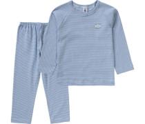 Schlafanzug für Jungen blau / azur / himmelblau
