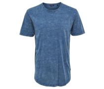 Bedrucktes T-Shirt himmelblau