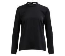 Schwarze Detail-Bluse schwarz