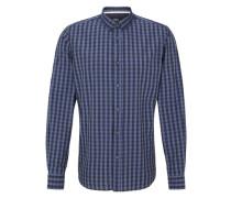 Vichykaro-Hemd blau