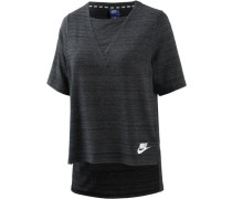 T-Shirt 'Advanced Knit' schwarz