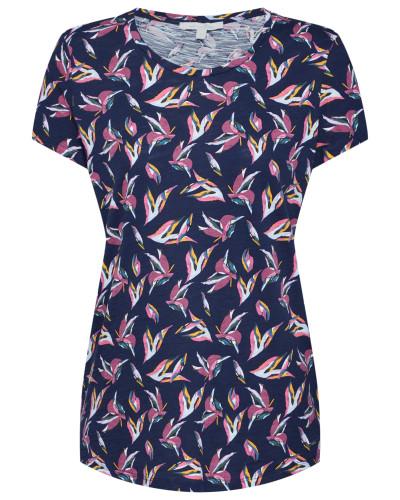 T-Shirt dunkelblau / mischfarben