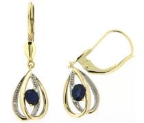 Ohrhänger mit Saphiren und Brillanten gold