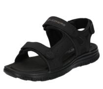 Sandale mit verstellbaren Riemen schwarz