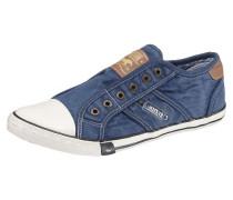 Slipper blau / braun / weiß