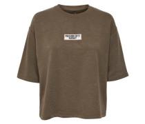 Kurzärmeliges Sweatshirt khaki