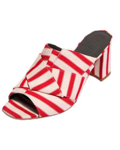 Schuh 'Elle' rot / weiß