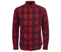 Langarmhemd Kariertes rot / schwarz
