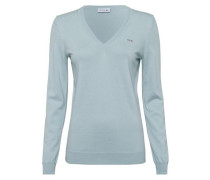 Pullover mit Label-Applikation hellblau