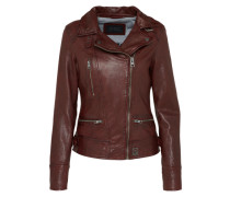 Lederjacke 'Video' bordeaux