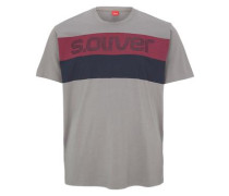 Printshirt mit Colour Blocking grau