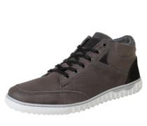 Sneaker mit Snakeskin-Prägung grau