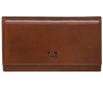 Story Donna Damen-Geldbörse Leder 17 cm karamell