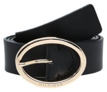 Ledergürtel 'Oval buckle belt 3.5'