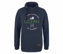 Sweatshirt navy / grün / weiß