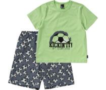 Schlafanzug basaltgrau / grün