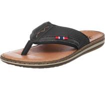 Zehentrenner Sandalen braun / schwarz