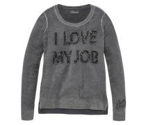 Pullover »I love my job« grau