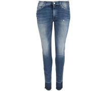 Jeans 'Highwaist Skinny Unrolled' blau