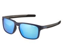 Sonnenbrille mit Nietendekor blau