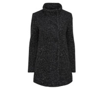Woll-Mantel schwarzmeliert
