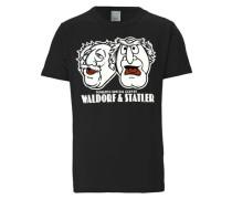 """T-Shirt """"Statler und Waldorf"""" schwarz"""