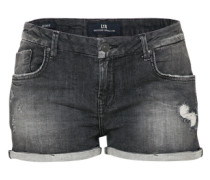 Knappe Used Shorts 'Judie' black denim