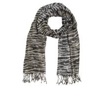 Schal mit Glitzerfäden schwarz / silber