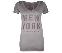 T-Shirt New York grau