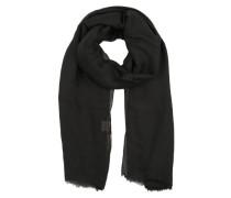 Schal mit Fransenkante schwarz