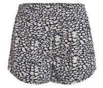 Bedruckte Shorts ultramarinblau / weiß