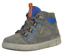 Stiefelette blau / grau / orange