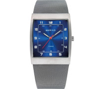 Armbanduhr blau / silber