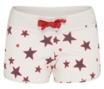 Shorts 'Stars' mischfarben / weiß