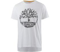 T-Shirt dunkelgrau / weiß