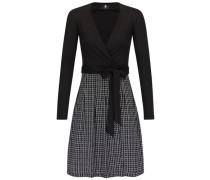 Kleid im Wickelstil 'diana' schwarz