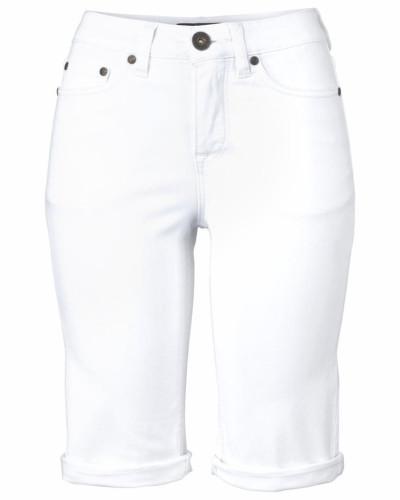 Jeansbermudas weiß