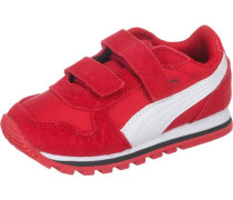 Baby Sneakers 'ST Runner' aus Leder rot / weiß